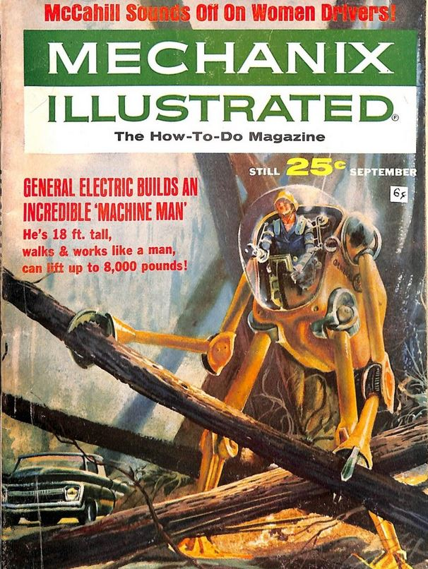 1964-09 Mechanix Illustrated GE machine man cover