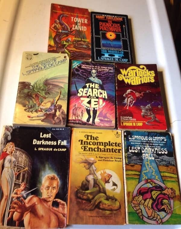 L Sprague de Camp vintage paperback lot 4-small