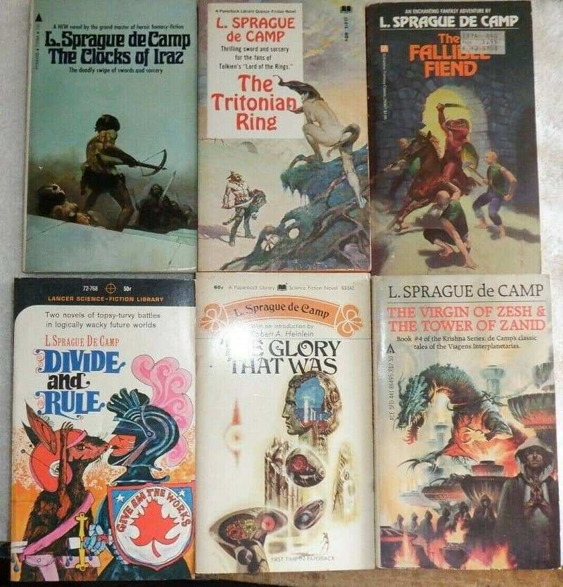 L Sprague de Camp vintage paperback lot 7-small