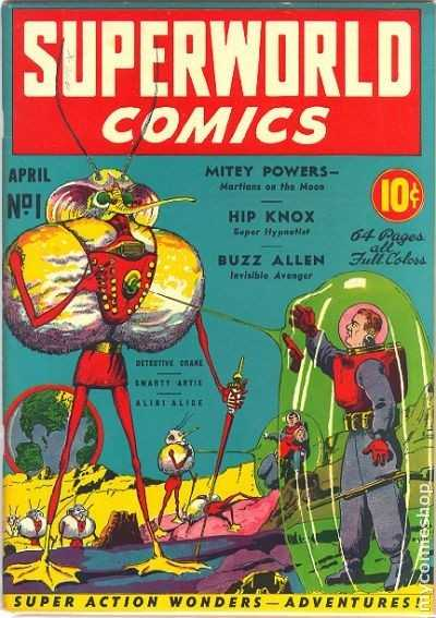Superworld Comics #1, April 1940 cover
