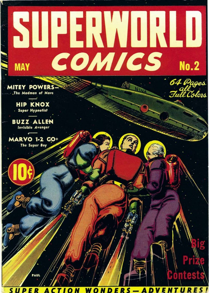 Superworld Comics #2, May 1940 cover art by Frank R. Paul