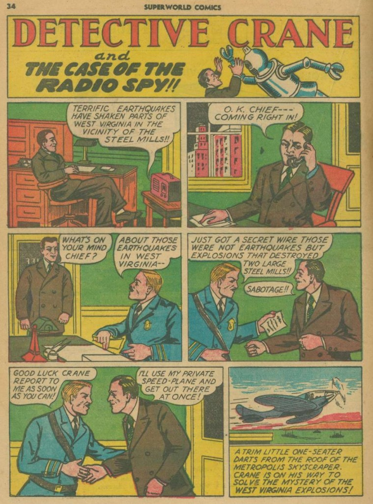 Superworld Comics #3, Aug 1940 Detective Crane 1