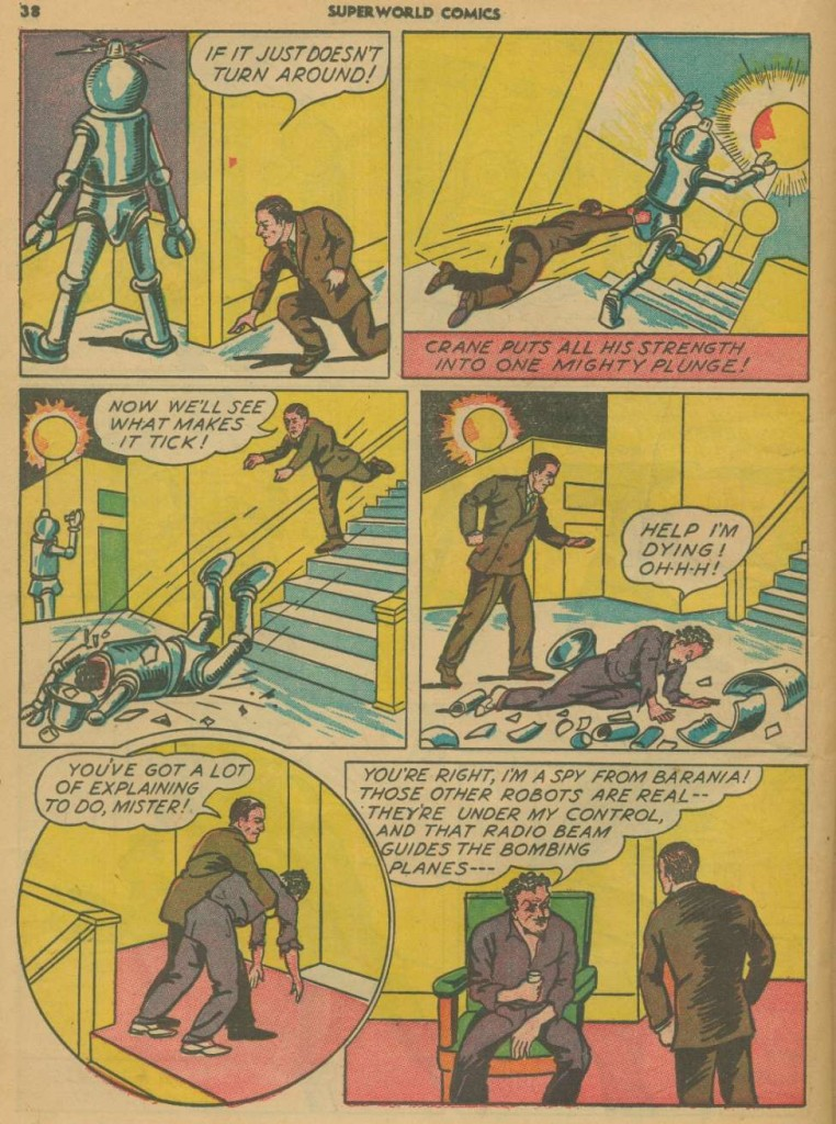 Superworld Comics #3, Aug 1940 Detective Crane 5