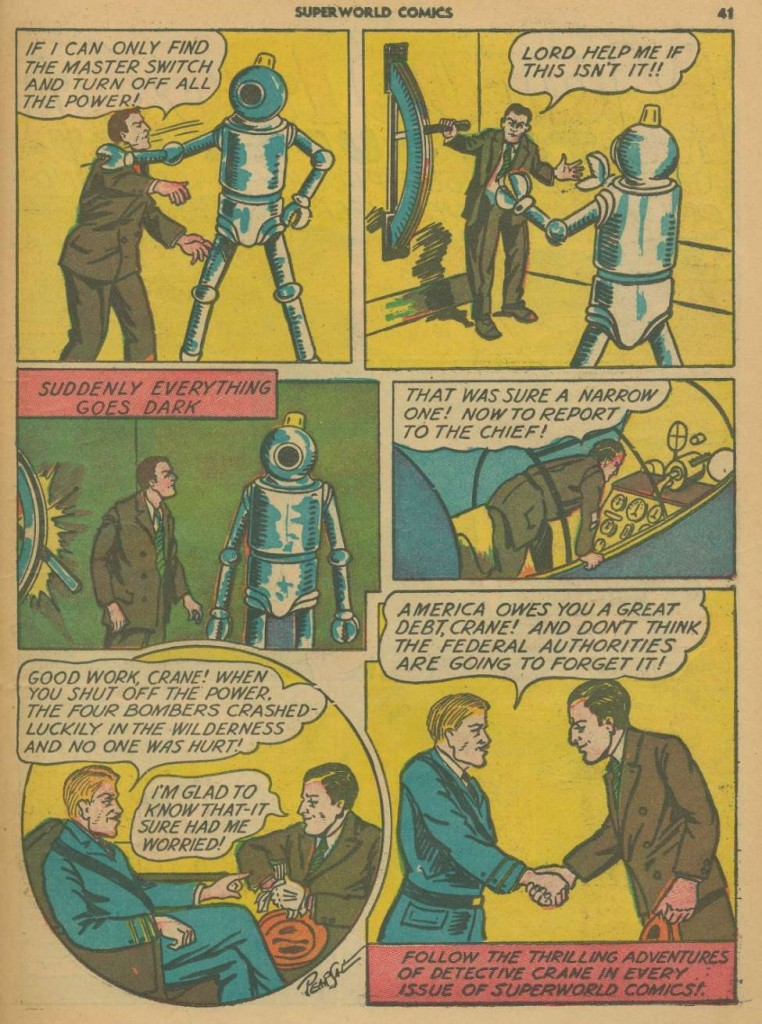 Superworld Comics #3, Aug 1940 Detective Crane 8
