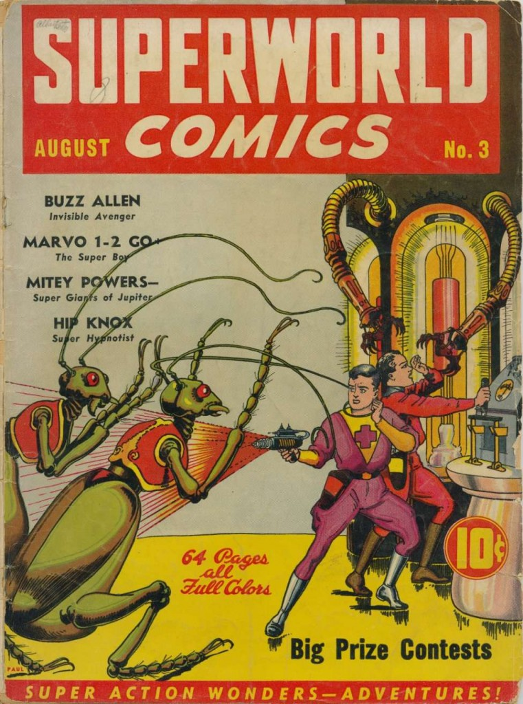 Superworld Comics #3, Aug 1940 cover art by Frank R. Paul