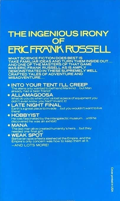The Best of Eric Frank Russell-back-small