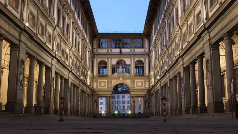 (1) the Uffizi Gallery