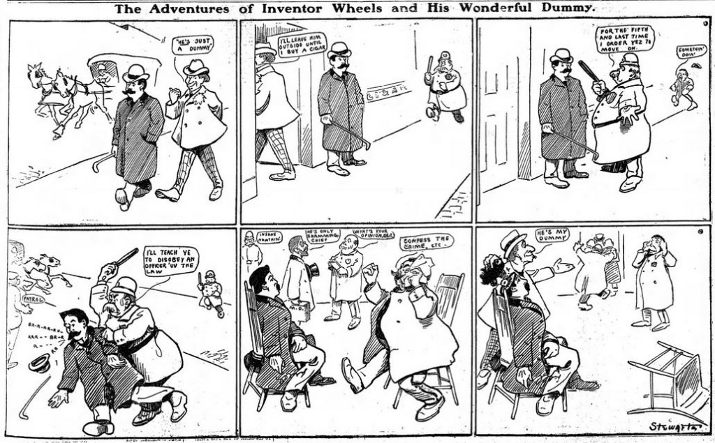 1903-02-22 Adventures of Inventor Wheels and his Wonderful Dummy 31
