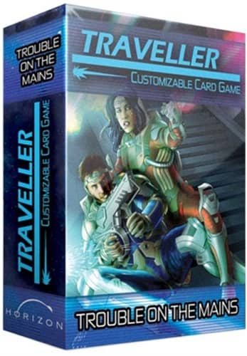 Far Future Traveller CCG Expansion Pack Trouble on The Mains-small