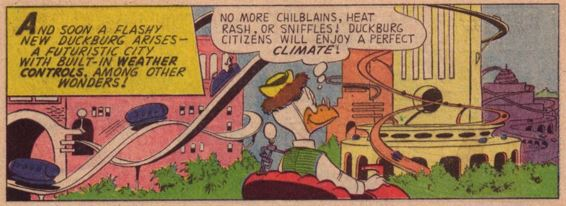 Four Color Comics #1184, May-July 1961 Gyro Monsterville 3 panel 1