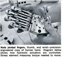 Power Driven Articulated Dummy hand Popular Science May 1967 129