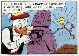Uncle Scrooge #20, Dec.-Feb. 1958 Gyro Roscoe the Robot 1 panel 2