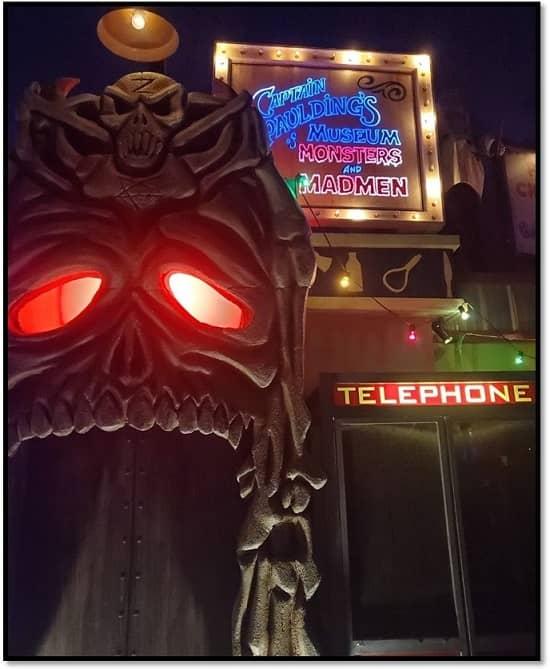 Universal Halloween Horror Nights 2019 Captain Spaulding's Museum-small