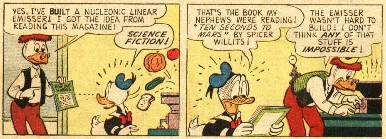Walt Disney's Comics and Stories #249, June 1961 Stranger Than Fiction 2 panel 3-4