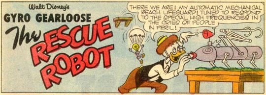 Walt Disney's Comics and Stories #251, Aug. 1961 Gyro The Rescue Robot 1 panel 1
