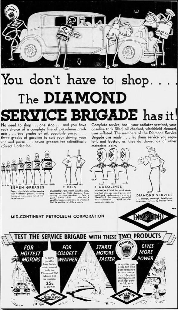 1931-10-11 Louisville Courier-Journal 18 Diamond Service Brigade