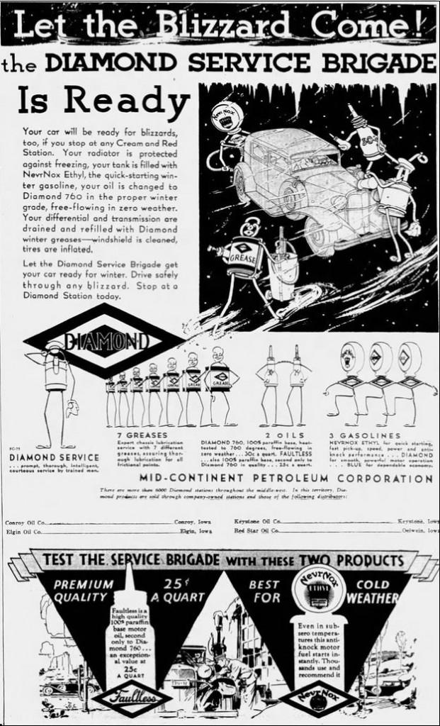 1931-12-03 Cedar Rapids [IA] 10 Diamond Service Brigade