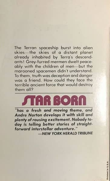 Andre Norton-Star Born-back-small