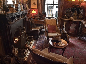 The sitting room of 221b Baker Street London