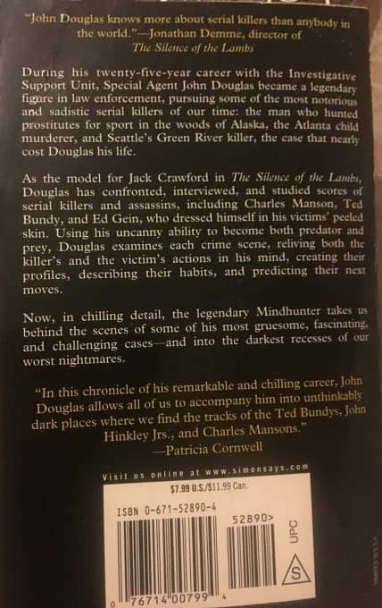 Mindhunter book original cover-back-small
