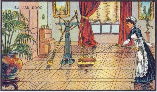1899 En L'an 2000 floor sweeper