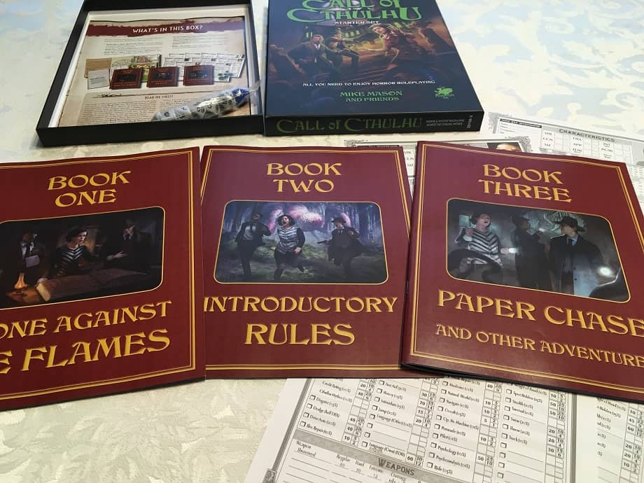 Call of Cthulhu Starter Set-contents-small