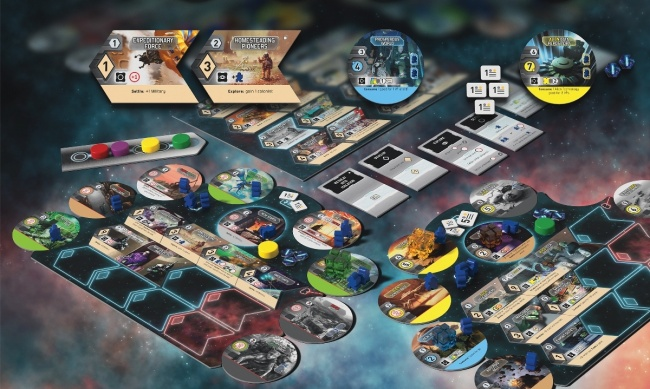 New Frontiers game board