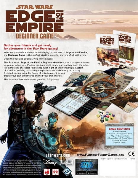 Star Wars Edge of the Empire - Beginner Game-back-small