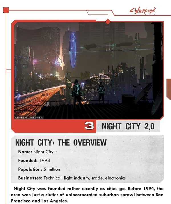 Cyberpunk Red Jumpstart Kit Night City Overview-small