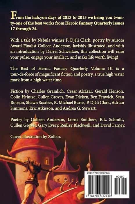 The Best of Heroic Fantasy Quarterly Volume 3-back-small