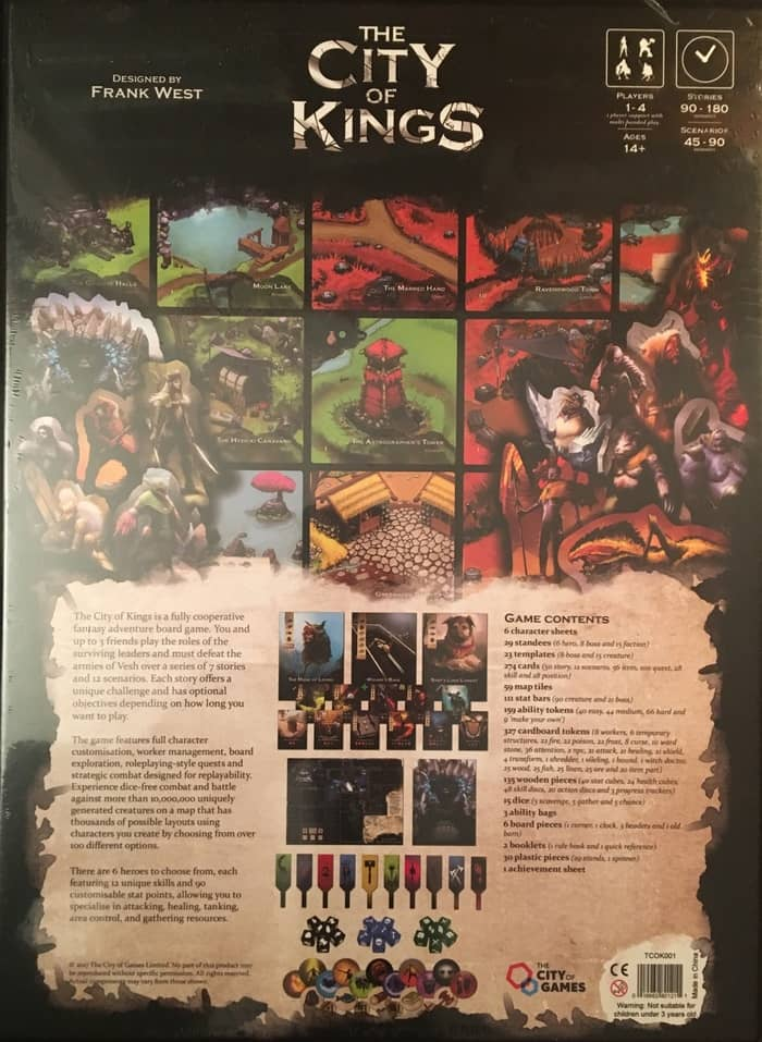 The City of Kings board game-back-small