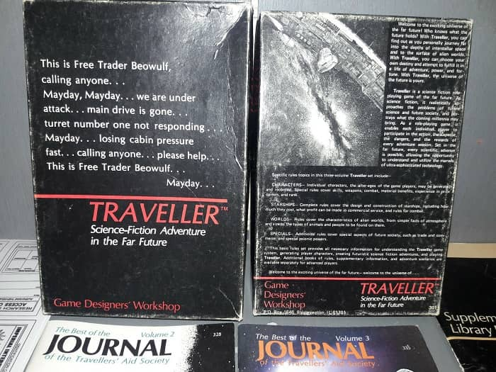 Traveller Role Playing Game closeup-small