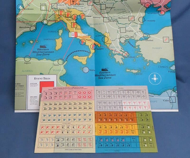 SPI board game Spies-map2-small
