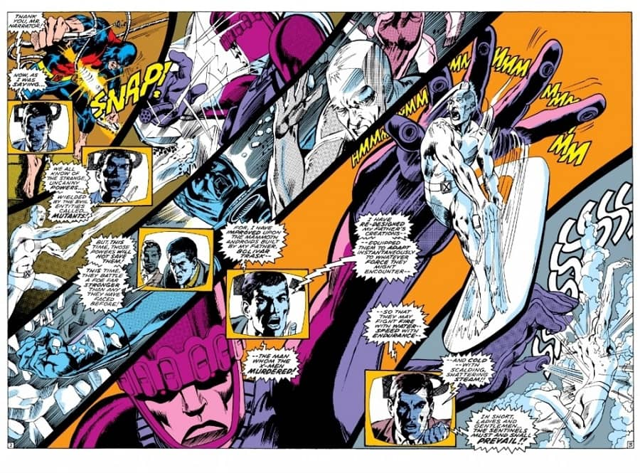 X-Men Sentinals double-page spread-small