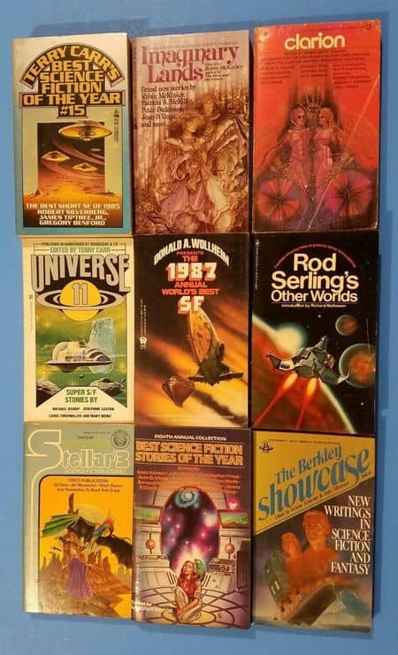 9 science fiction anthologies for $14.99-small