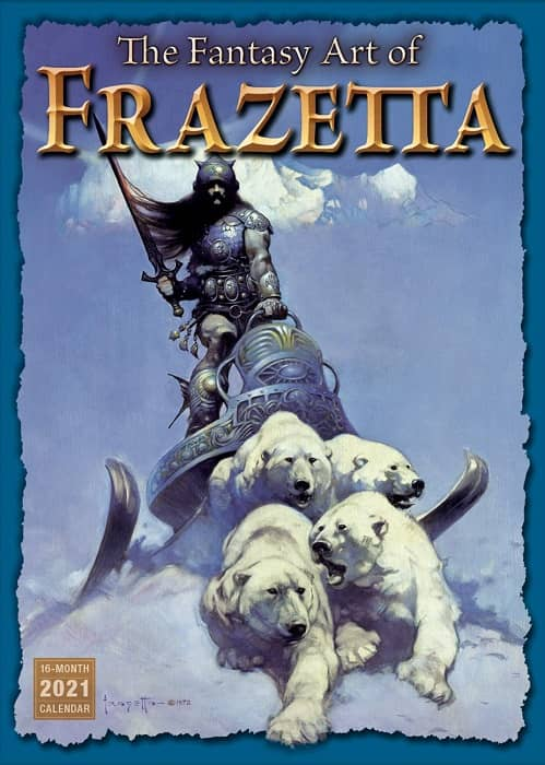 2021 The Fantasy Art of Frazetta 16-Month Wall Calendar-small
