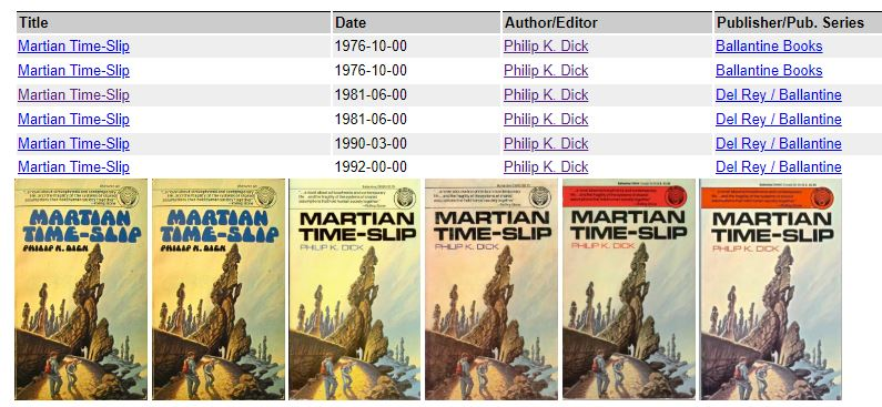 Martian Time Slip by Darrell K Sweet