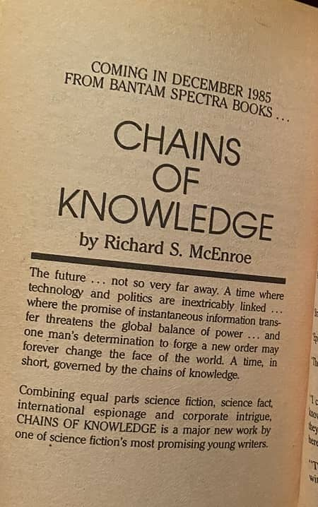 Chains of Knowledge Richard S McEnroe-small