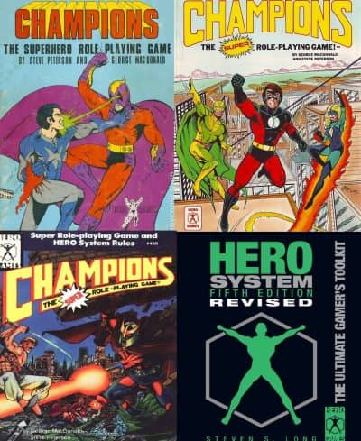 Champions plus supplements Hero Games