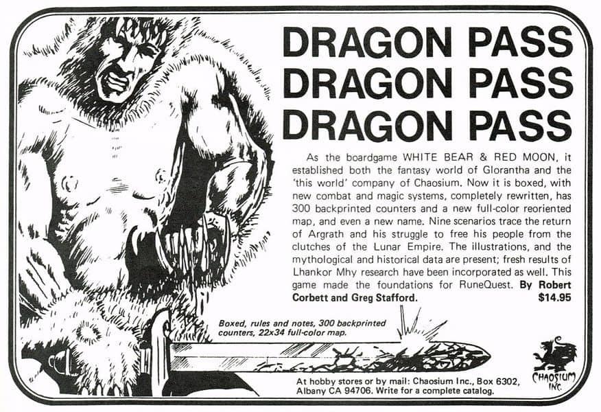 Dragon Pass magazine ad