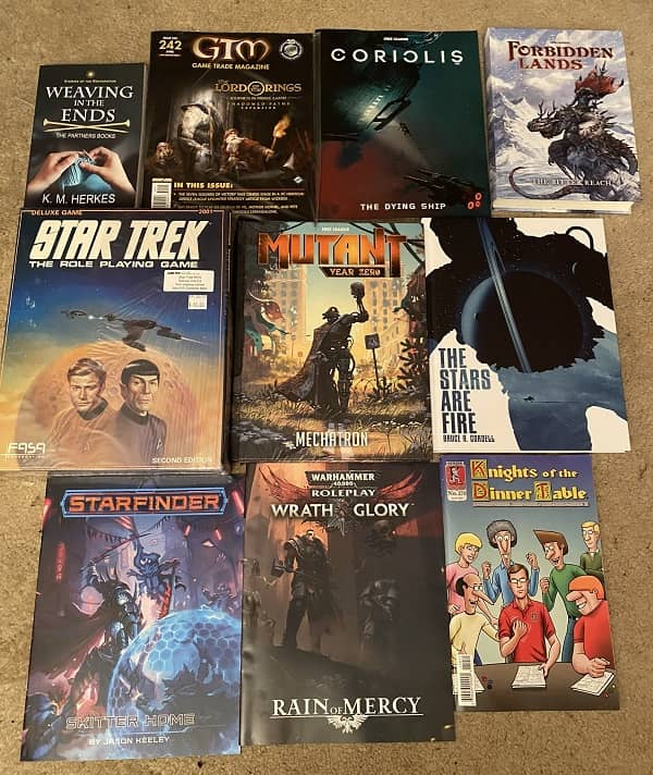 Games Plus Free RPG Day all the loot-small