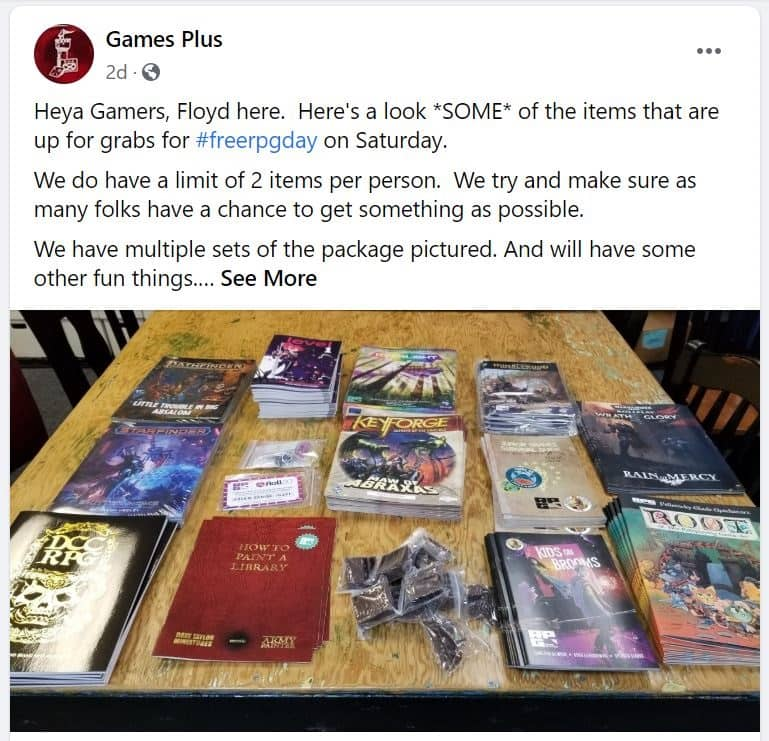 Games Plus Free RPG Day-small
