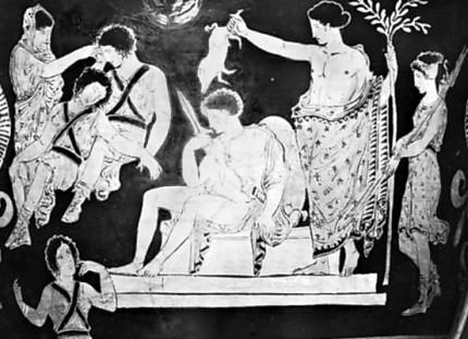 Orestes-purification-detail-Furies-Apollo-Apulian-figure