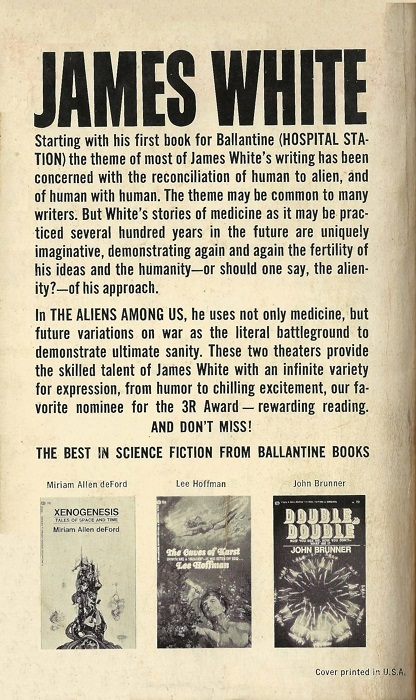The Aliens Among Us James White-back-small