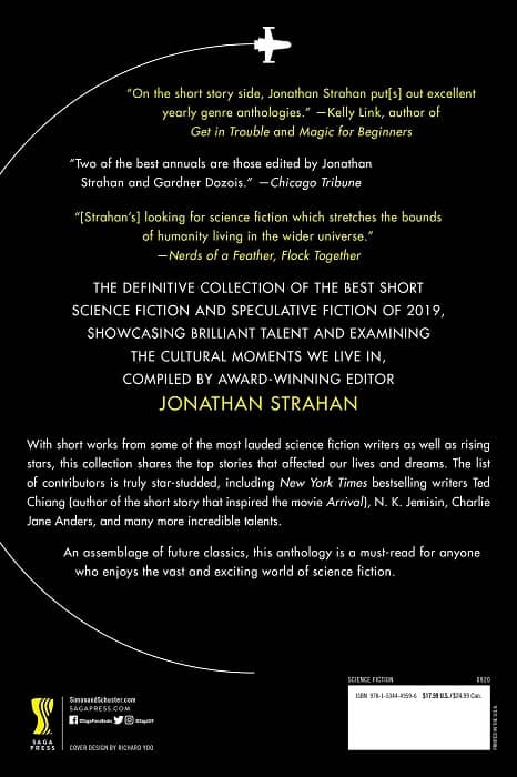The Year's Best Science Fiction Volume 1 The Saga Anthology of Science Fiction 2020-back-small