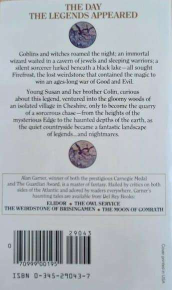 The Weirdstone of Brisingamen Del Rey-back-small