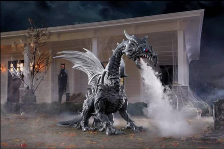 The dragon from Home Depot