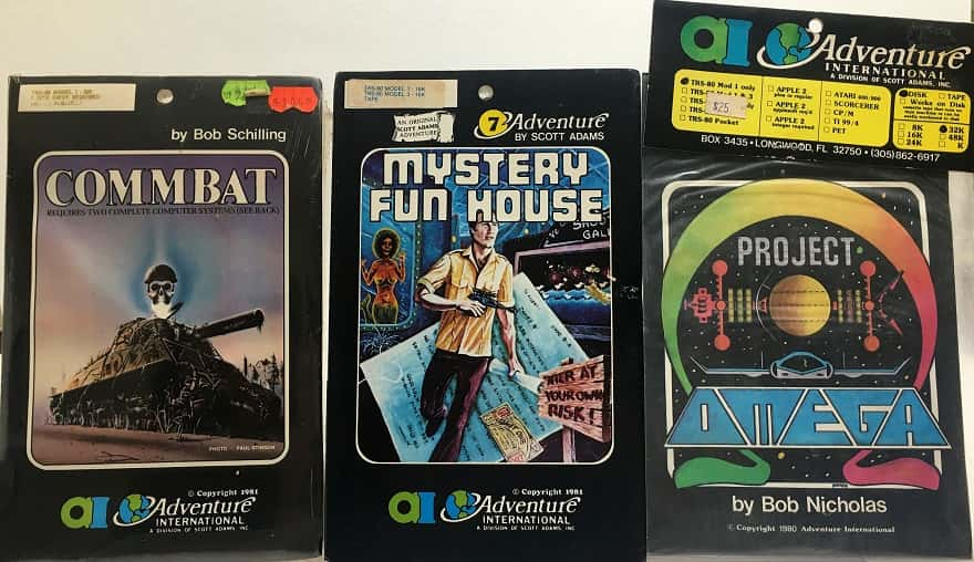 adventure #7 - mystery fun house - commbat - project omega - trs 80 - adventure international-small