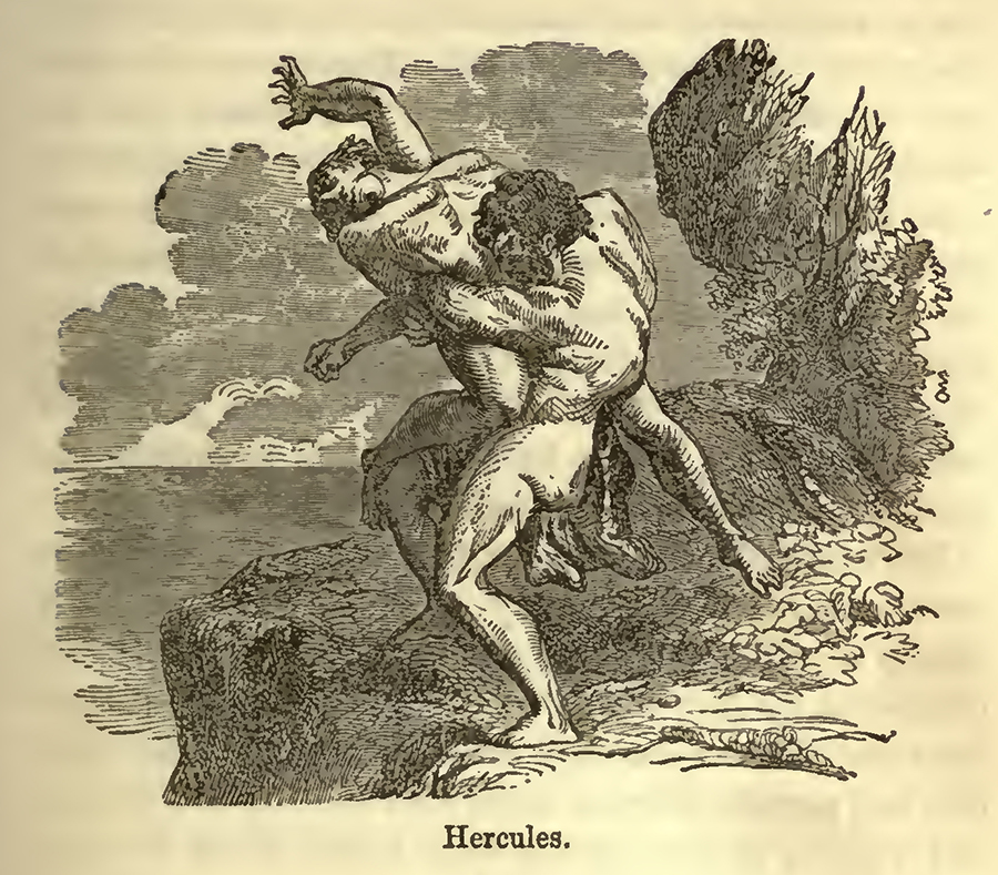 Interior Illustration of Hercules, 1885 ed of Bulfinch's Age of Fable p199