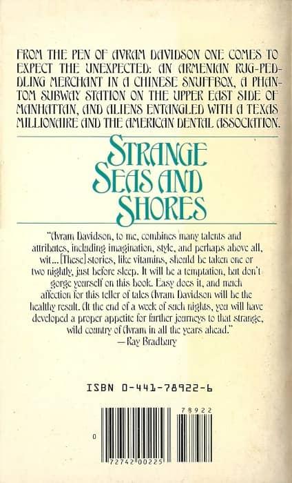 Strange Seas and Shores Avram Davidson-back-small